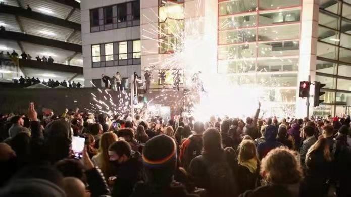 △布里斯托暴力抗议(图片来源:网络)