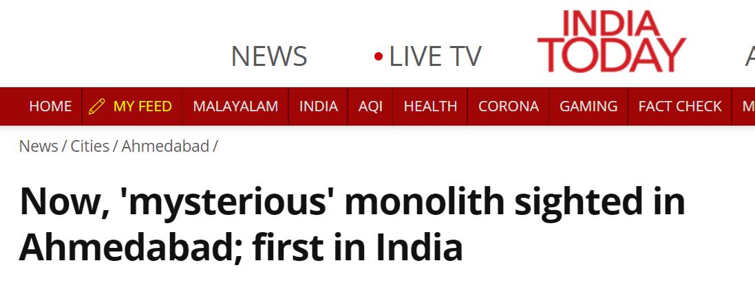 《今日印度》报道截图