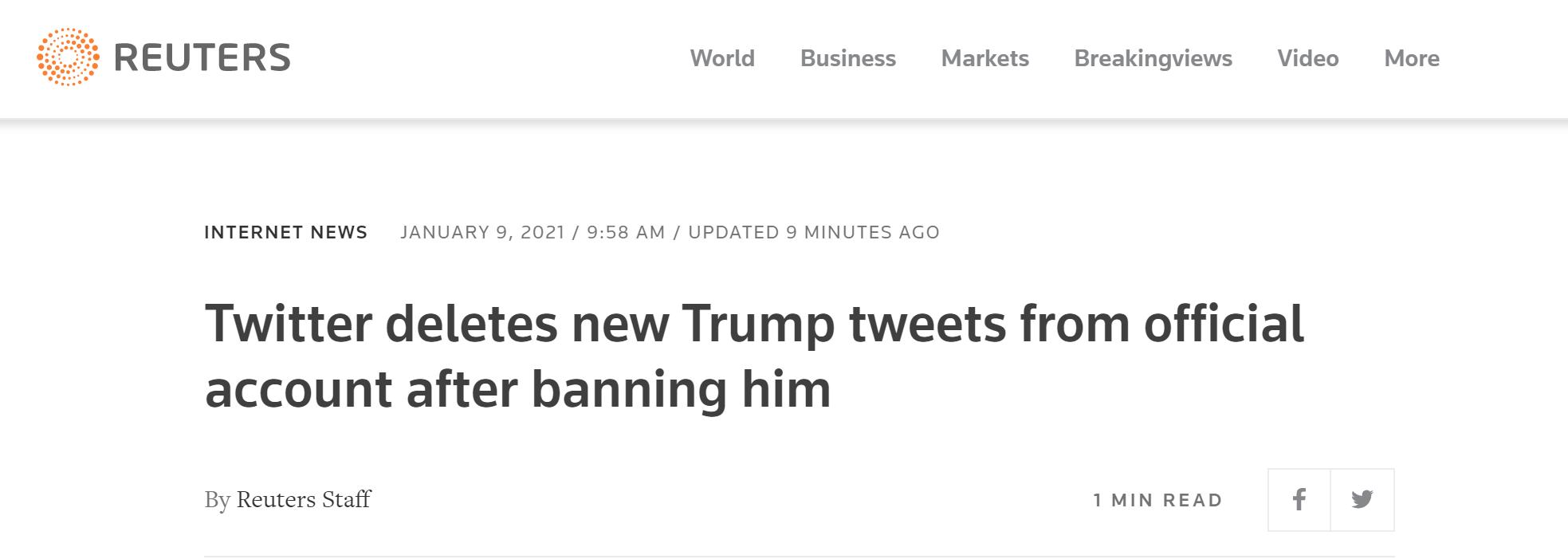推特账号被封 特朗普的平台建立了吗