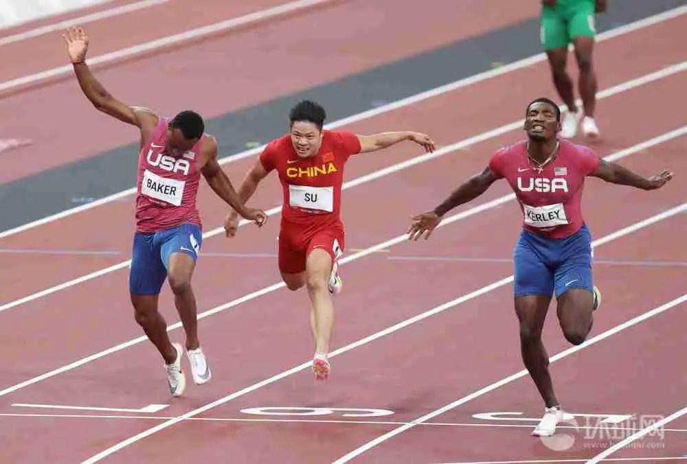 东京奥运会男子100米决赛中,苏炳添获得第六名的成绩。摄影:环球时报英文版 崔萌