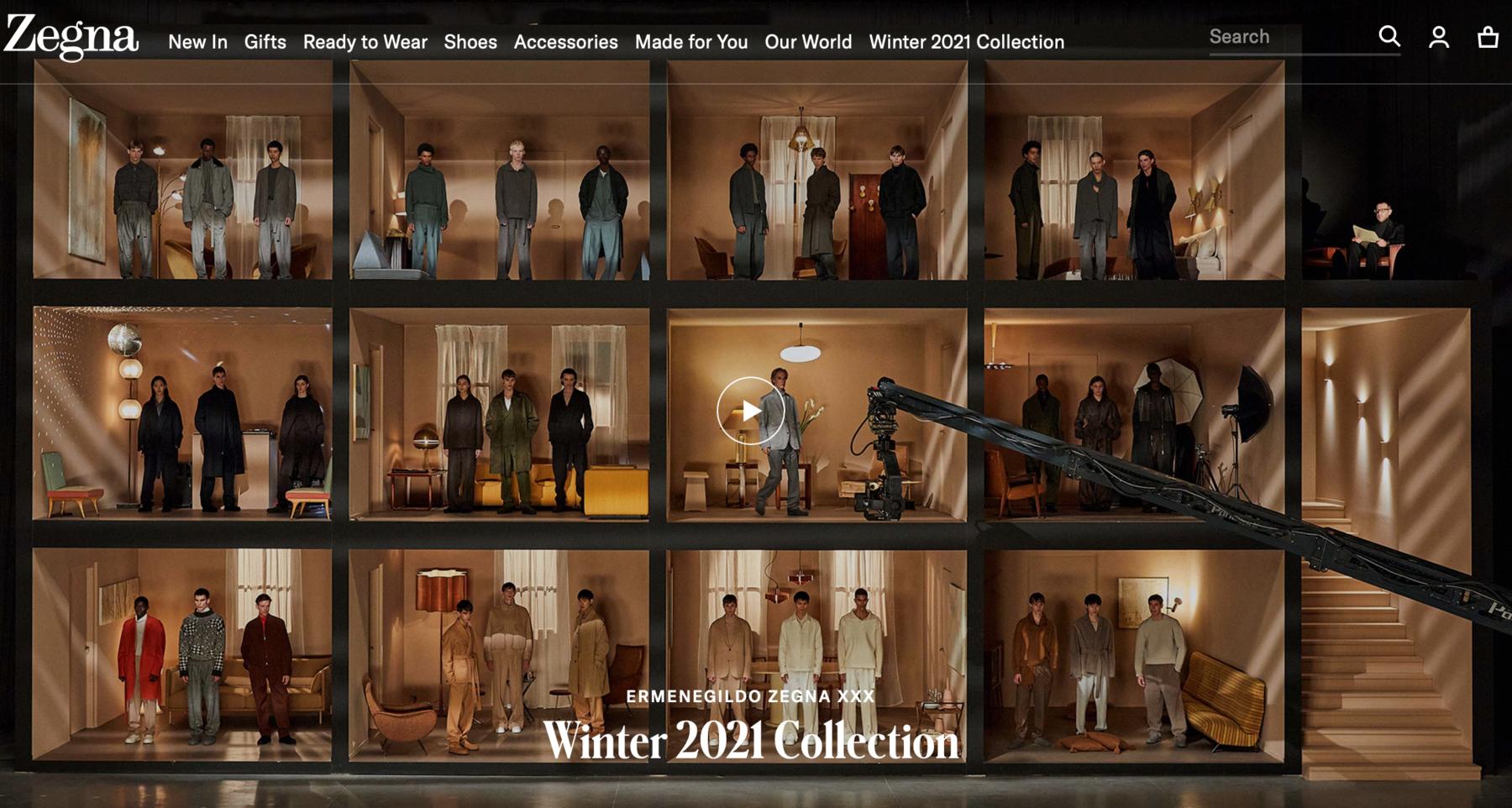 Zegna 米兰男装周开场 诠释疫情后男装新时代