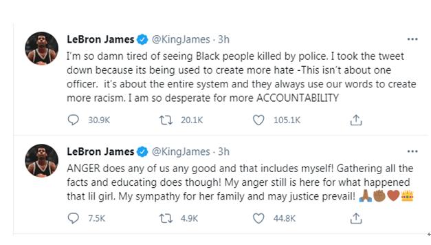 詹姆斯推特截图