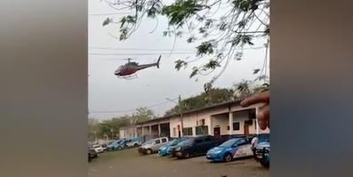 巴西两男子试图劫持直升机去劫狱 飞行员模拟坠落逼走匪徒
