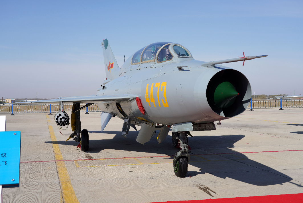 解放軍殲-7戰機(同型機)。 圖自台灣防務部門官網