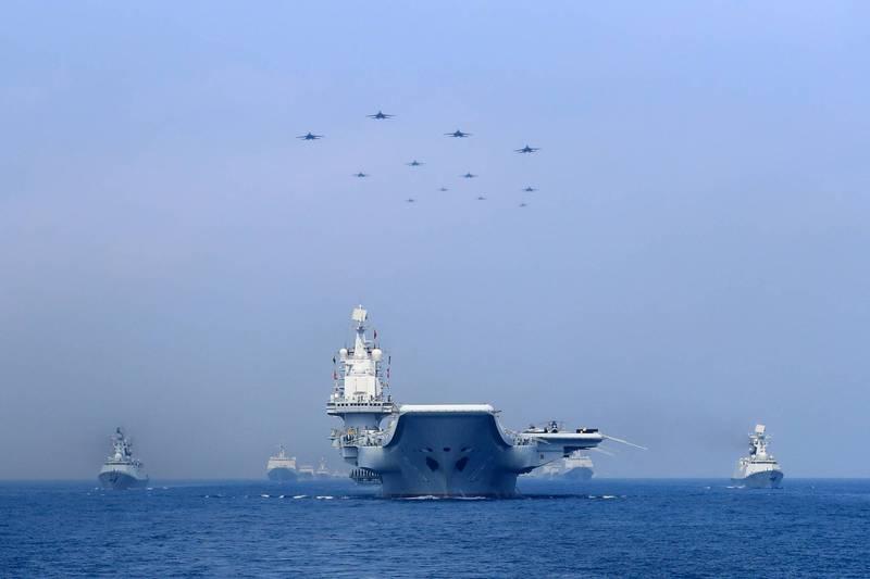 解放军军舰。(示意图)图自台媒